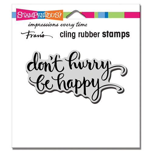 Stampendous - Cling Mounted Rubber Stamps - Be Happy