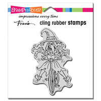 Stampendous - Halloween - Cling Mounted Rubber Stamps - Wobbly Witch
