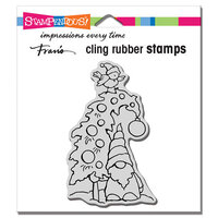 Stampendous - Christmas - Cling Mounted Rubber Stamps - Gnome Tree