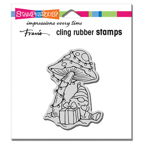 Stampendous - Christmas - Cling Mounted Rubber Stamps - Mushroom Gnome