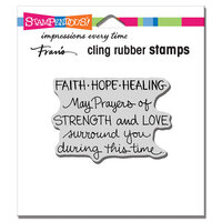 Stampendous - Cling Mounted Rubber Stamps - Faith Hope Healing