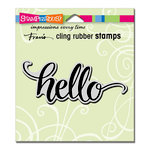 Stampendous - Cling Mounted Rubber Stamps - Big Brush Hello