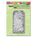Stampendous - Cling Mounted Rubber Stamps - Large Tag