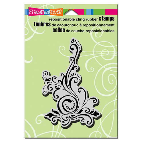 Stampendous - Cling Mounted Rubber Stamps - Elegant Scroll