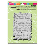Stampendous - Cling Mounted Rubber Stamps - Vintage Note