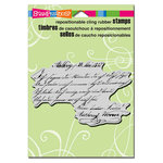 Stampendous - Cling Mounted Rubber Stamps - Script Lines