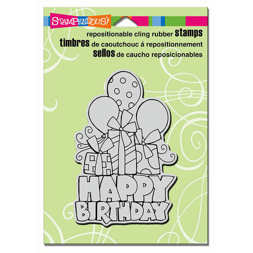 Stampendous - Cling Mounted Rubber Stamps - Chunky Birthday