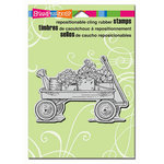 Stampendous - Cling Mounted Rubber Stamps - Garden Wagon