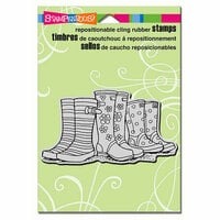 Stampendous - Cling Mounted Rubber Stamps - Puddle Boots