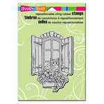 Stampendous - Cling Mounted Rubber Stamps - Window Kitty