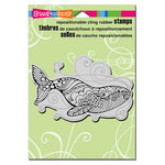 Stampendous - Cling Mounted Rubber Stamps - Stylized Whale