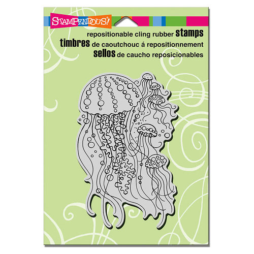 Stampendous - Cling Mounted Rubber Stamps - Jellyfish