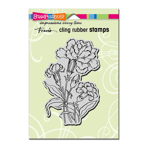 Stampendous - Cling Mounted Rubber Stamps - Carnation Blooms