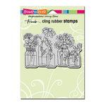 Stampendous - Cling Mounted Rubber Stamps - Flower Jars