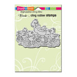 Stampendous - Cling Mounted Rubber Stamps - Puddle Ducks