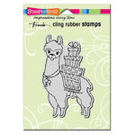 Stampendous - Cling Mounted Rubber Stamps - Llama Delivery