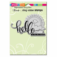 Stampendous - Cling Mounted Rubber Stamps - Sunny Hello