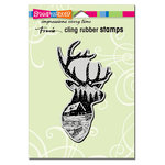 Stampendous - Christmas - Cling Mounted Rubber Stamps - Buck Scene