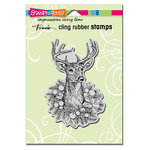 Stampendous - Christmas - Cling Mounted Rubber Stamps - Adorned Deer