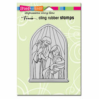 Stampendous - Christmas - Cling Mounted Rubber Stamps - Holy Nativity
