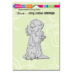 Stampendous - Christmas - Cling Mounted Rubber Stamps - Birdie Cherub