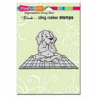 Stampendous - Cling Mounted Rubber Stamps - Yoga Dog