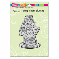 Stampendous - Cling Mounted Rubber Stamps - May The Fork