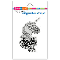 Stampendous - Cling Mounted Rubber Stamps - Unicorn Skull