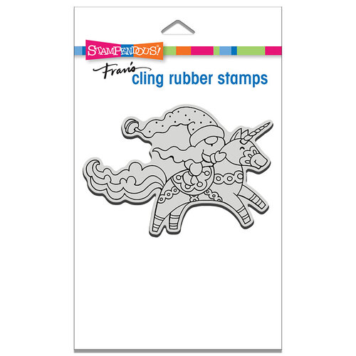 Stampendous - Cling Mounted Rubber Stamps - Unicorn Gnome