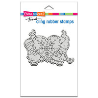 Stampendous - Cling Mounted Rubber Stamps - Gnome Love