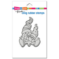 Stampendous - Cling Mounted Rubber Stamps - Papa Gnome and Baby
