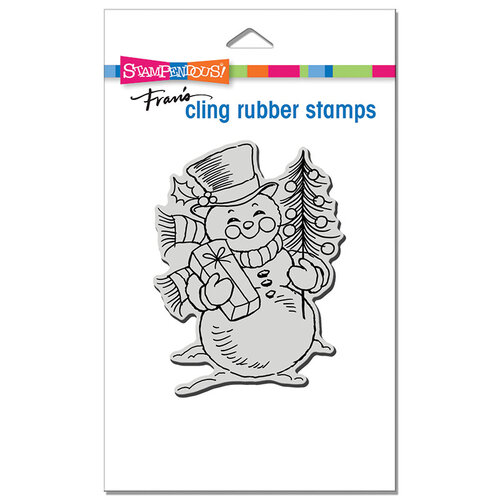 Stampendous - Christmas - Cling Mounted Rubber Stamps - Snowman Smile