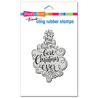 Stampendous - Cling Mounted Rubber Stamps - Best Christmas
