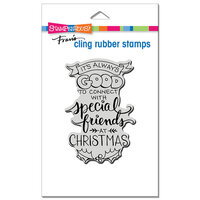 Stampendous - Christmas - Cling Mounted Rubber Stamps - Always Friends