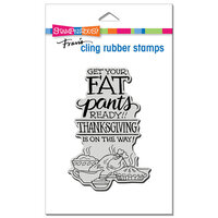 Stampendous - Cling Mounted Rubber Stamps - Fat Pants