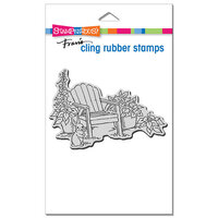 Stampendous - Cling Mounted Rubber Stamps - Bunny Chair