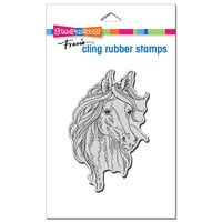 Stampendous - Cling Mounted Rubber Stamps - Horse Portrait