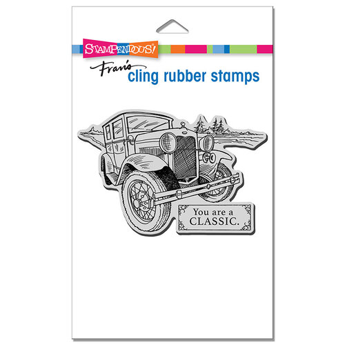 Stampendous - Cling Mounted Rubber Stamps - Classic Car