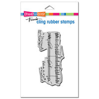 Stampendous - Cling Mounted Rubber Stamps - Music Notation