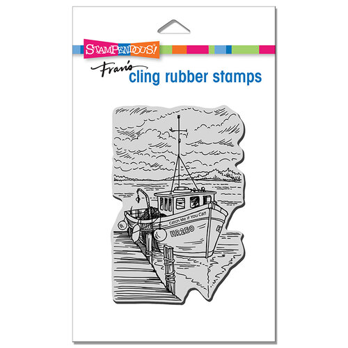 Stampendous - Cling Mounted Rubber Stamps - Boat Docking