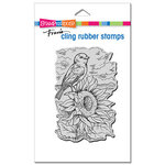 Stampendous - Cling Mounted Rubber Stamps - Sunflower Perch