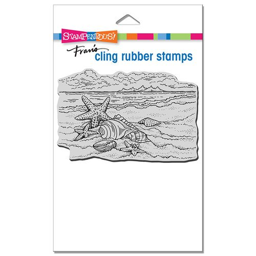 Stampendous - Cling Mounted Rubber Stamps - Seaside Shells