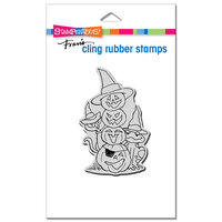 Stampendous - Halloween - Cling Mounted Rubber Stamps - Jack Stack