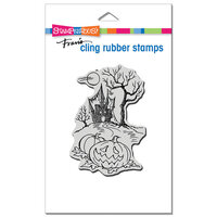 Stampendous - Halloween - Cling Mounted Rubber Stamps - Haunted Hallow