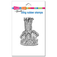 Stampendous - Halloween - Cling Mounted Rubber Stamps - Tree Menace