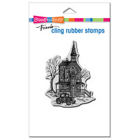 Stampendous - Halloween - Cling Mounted Rubber Stamps - Vintage Victorian