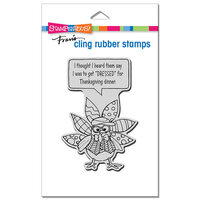 Stampendous - Cling Mounted Rubber Stamps - Dressed Turkey