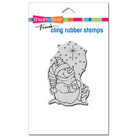 Stampendous - Christmas - Cling Mounted Rubber Stamps - Starlight Pals