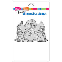 Stampendous - Christmas - Cling Mounted Rubber Stamps - Snome Buddies