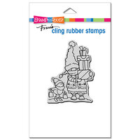 Stampendous - Christmas - Cling Mounted Rubber Stamps - Gnome Shoppers